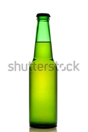 Groene bierfles geïsoleerd witte partij bier Stockfoto © artjazz
