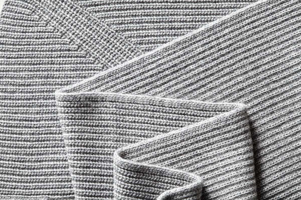 Primo piano macro texture maglia cotone tessuto Foto d'archivio © artjazz