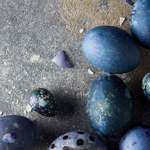 eggshells and blue eggs Stock photo © artjazz