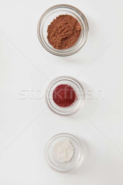 Ingredientes cozinhar delicioso bolos bolinhos Foto stock © artjazz
