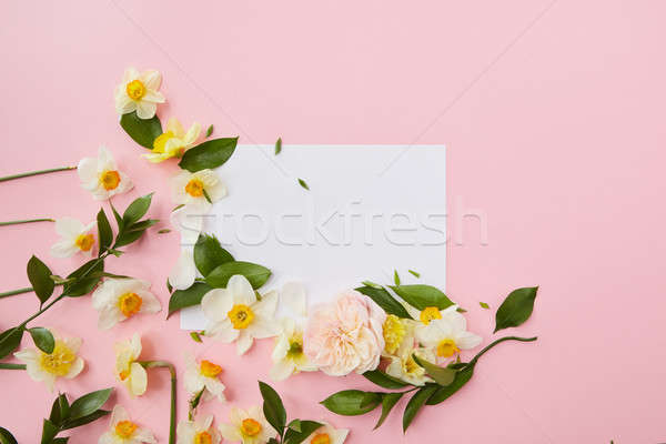 Flowers covering blank copy space Stock photo © artjazz