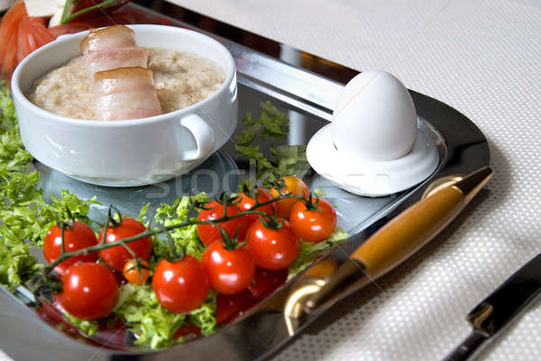 英語 朝食 卵 食品 背景 ストックフォト © artjazz