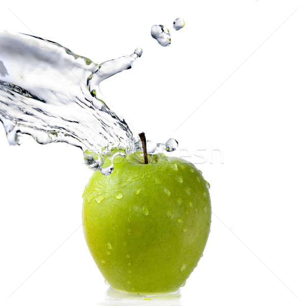 água doce salpico verde maçã isolado branco Foto stock © artjazz