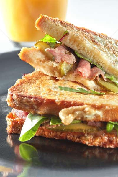 Clubhouse sandwich closeup Stock photo © artjazz