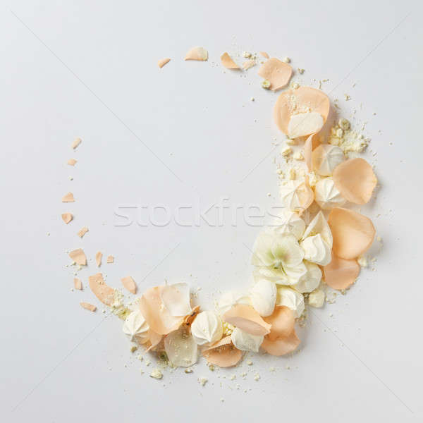 frame with beige roses Stock photo © artjazz