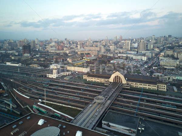 Aerial view of the city of Kiev Stock photo © artjazz