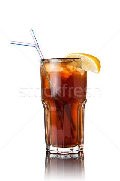 cocktail isolated on white Stock photo © artjazz