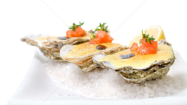 oysters with sauce Stock photo © artjazz