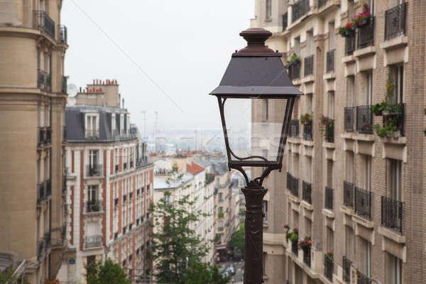 Utca fény Párizs Franciaország klasszikus párizsi Stock fotó © artjazz