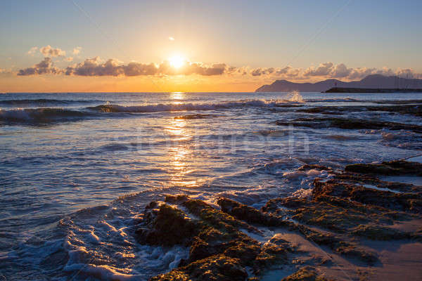美しい 日没 ビーチ 熱帯ビーチ 自然 空 ストックフォト © artjazz