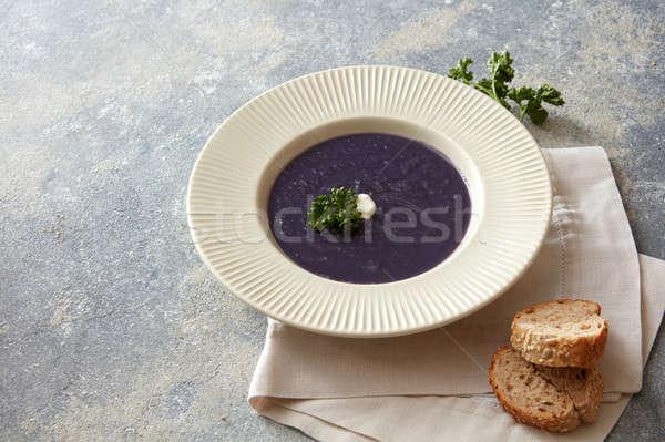 Vegan soup on table Stock photo © artjazz