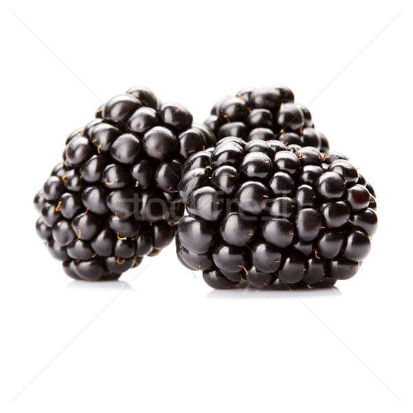 three fresh blackberry isolated Stock photo © artjazz