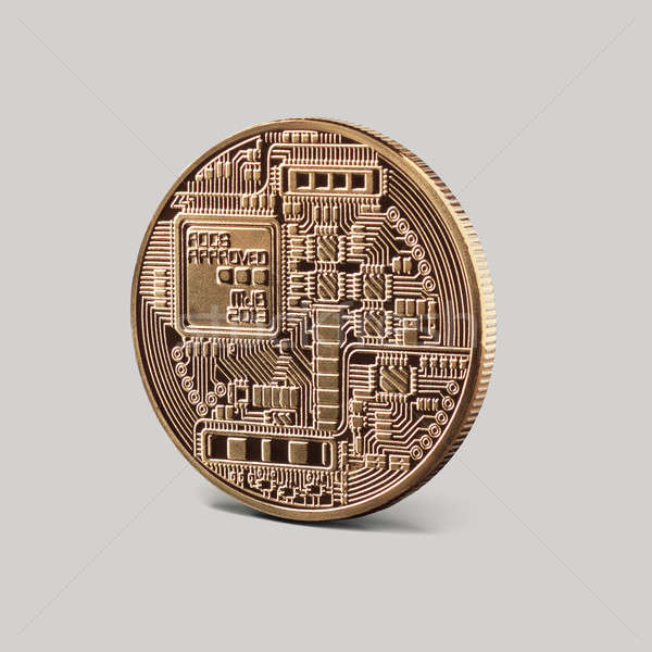 Back side of coin bitcoin Stock photo © artjazz