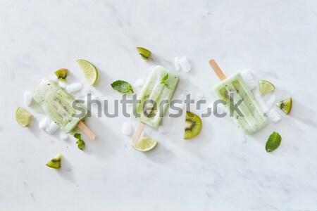 Forma esquina marco helado palo pieza Foto stock © artjazz