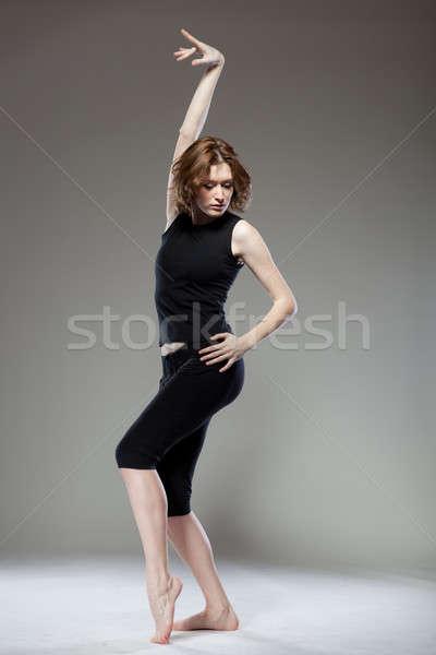 魅力的な 若い女性 ダンス 少女 髪 行使 ストックフォト © artjazz