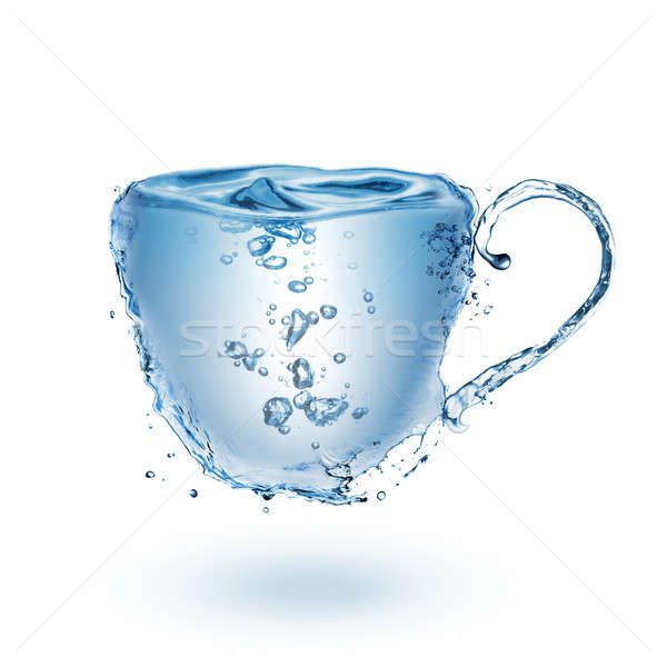 Cup made of water isolated on white Stock photo © artjazz