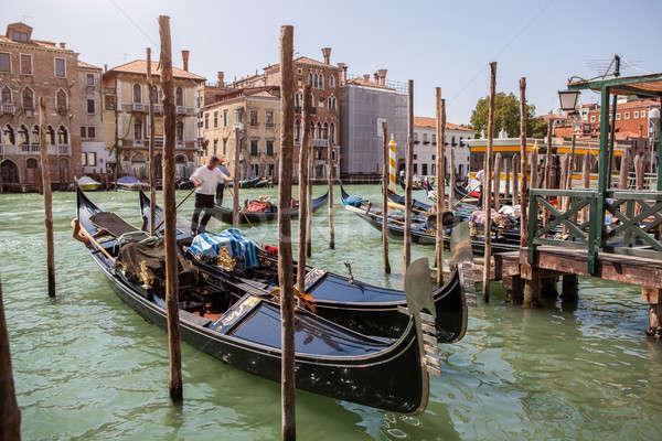 Венеция канал небе город закат морем Сток-фото © artjazz