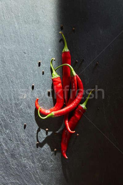 Kırmızı sıcak siyah taş gıda Stok fotoğraf © artjazz