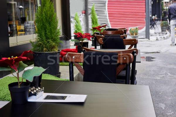Café rua istambul moderno Turquia comida Foto stock © artjazz