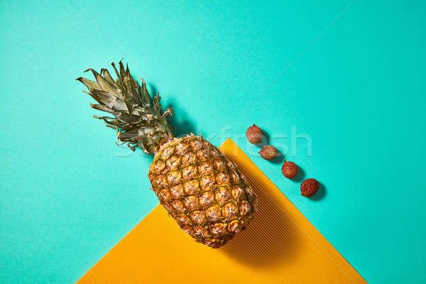 ананаса Top мнение экзотический плодов зеленый Сток-фото © artjazz