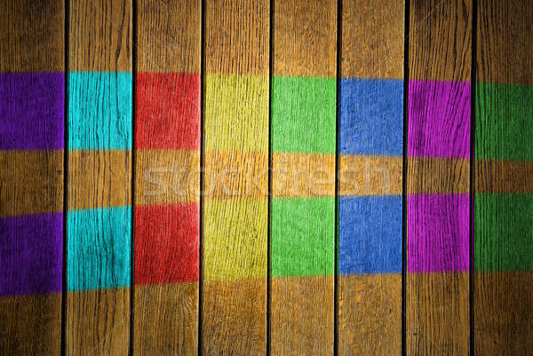 grunge colored close-up photo of plank texture Stock photo © artjazz