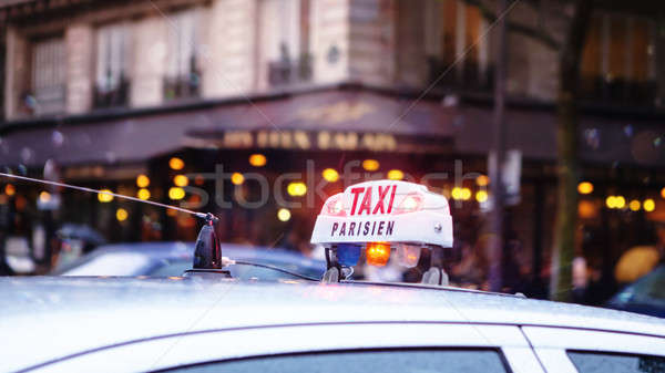 Taxi in Paris Stock photo © artjazz