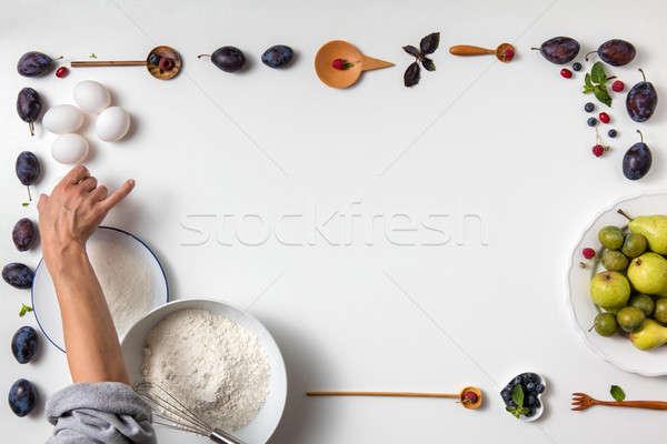 Ingredientes fruto mulher Foto stock © artjazz