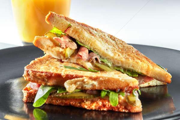 delicious grilled sandwich Stock photo © artjazz