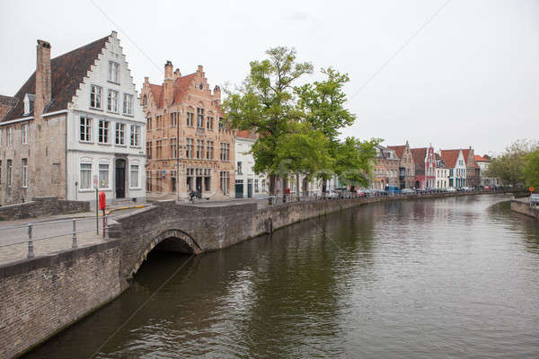 Scenic cityscape with Green canal, Stock photo © artjazz