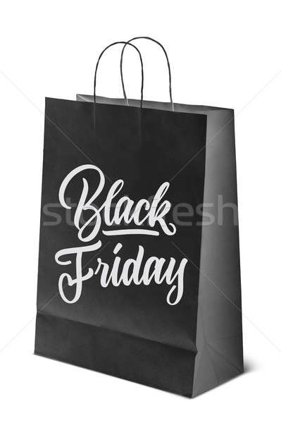on paper bag inscription is black Friday Stock photo © artjazz