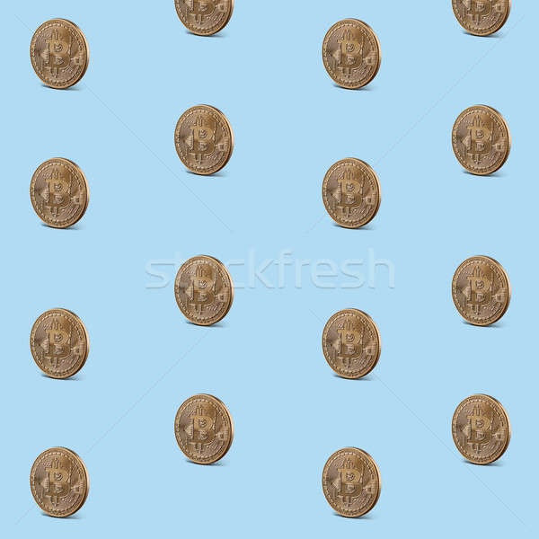 Pattern seamless of gold coins Stock photo © artjazz