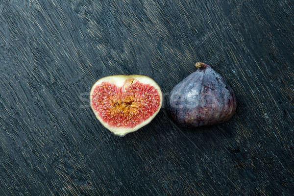 Fresh figs isolated on black Stock photo © artjazz