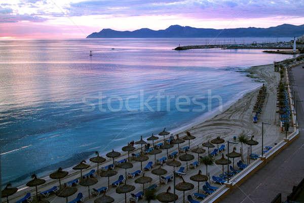 Widoku plaży mallorca nie ma ludzi piasku Zdjęcia stock © artjazz