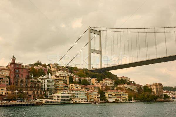 beautiful view of the Bosphorus Bridge Stock photo © artjazz