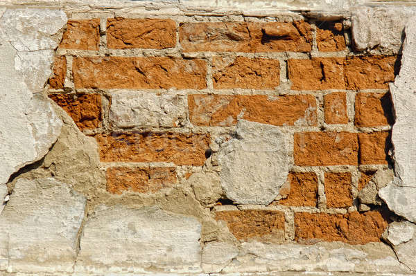 Starych cegieł ściany tekstury budowy tle Zdjęcia stock © artjazz