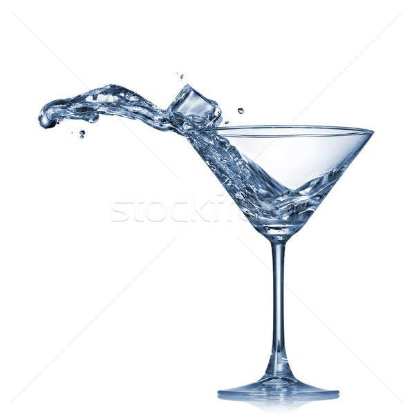 Stockfoto: Martini · splash · glas · geïsoleerd · witte · voedsel