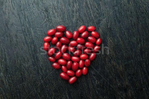 Dogwood berries as a heart Stock photo © artjazz
