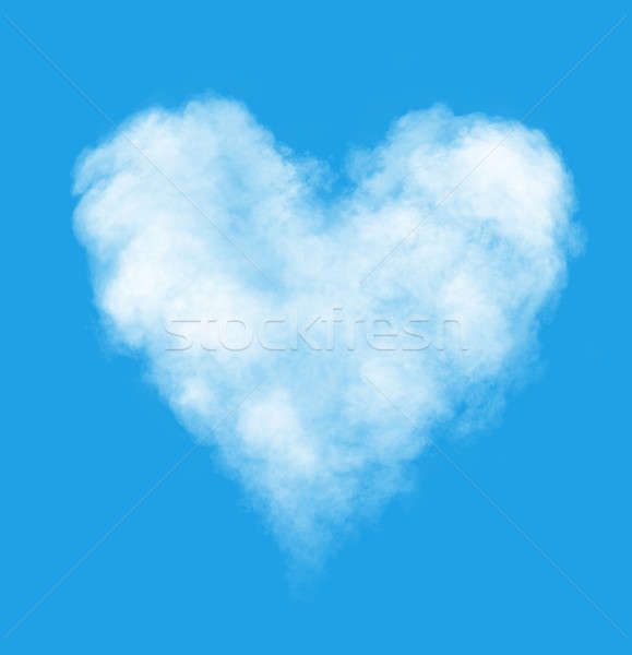 любви воздуха облаке форме сердце Blue Sky Сток-фото © artjazz