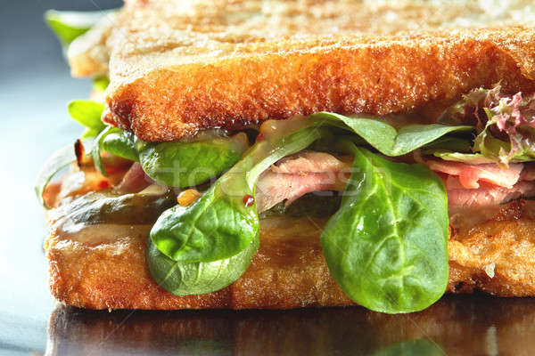 新鮮な 焼いた パーニニ blt サンドイッチ 健康 ストックフォト © artjazz
