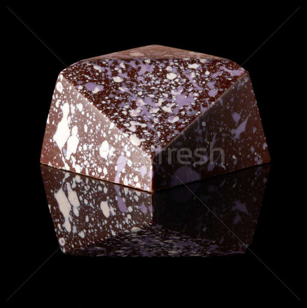 chocolate candy on black background Stock photo © artjazz