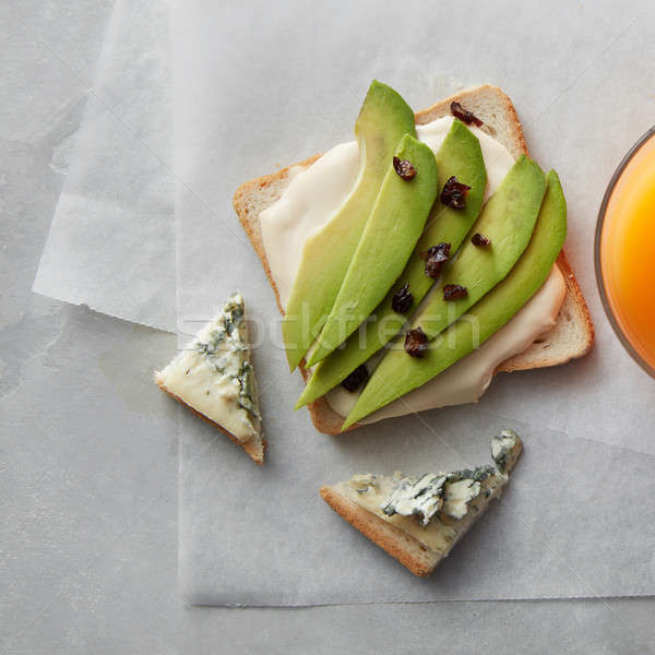 Avocado sandwich sap kaas oranje vers Stockfoto © artjazz