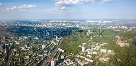 A bird's eye view of the Goloseevsky district of Kyiv Stock photo © artjazz