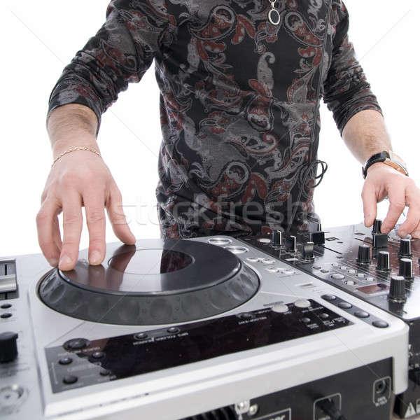 Jouer mixeur isolé blanche fête homme Photo stock © artjazz