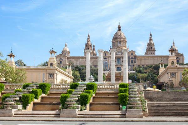 Arte museu Barcelona Espanha casa edifício Foto stock © artjazz