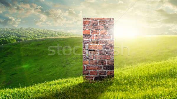 Photo stock: Image · porte · nouvelle · façon · entrée · monde