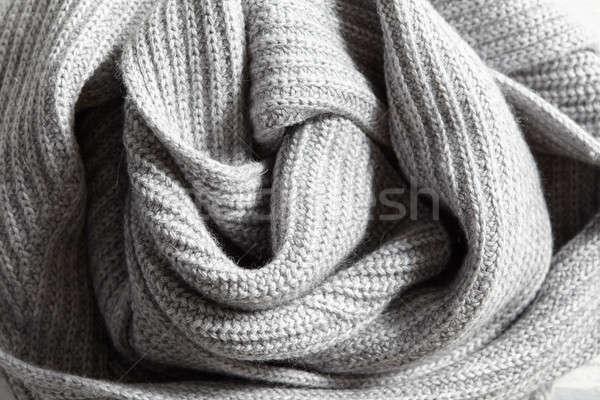 Photo stock: élégante · gris · tricoté · coton · tissu · texture