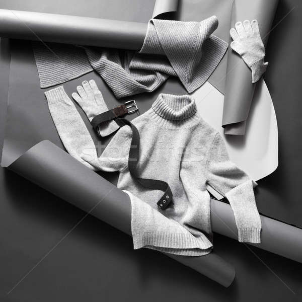 Winter clothes set . Stock photo © artjazz