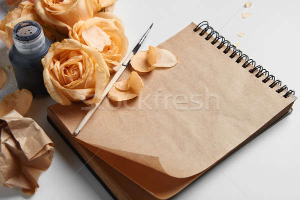 Diary or notebook for your notes Stock photo © artjazz