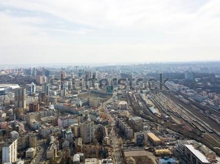 Ucrania primavera ciudad paisaje paisaje urbano Foto stock © artjazz