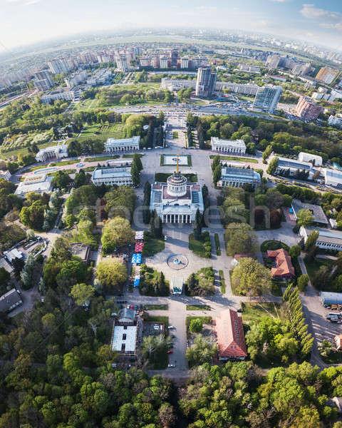 Stockfoto: Panoramisch · tentoonstelling · centrum · stad · voorjaar